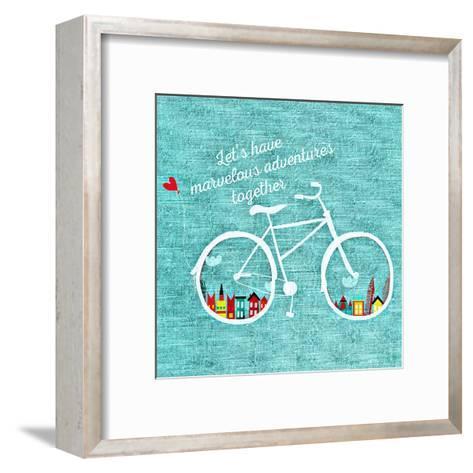 Adventure Bike-Wonderful Dream-Framed Art Print