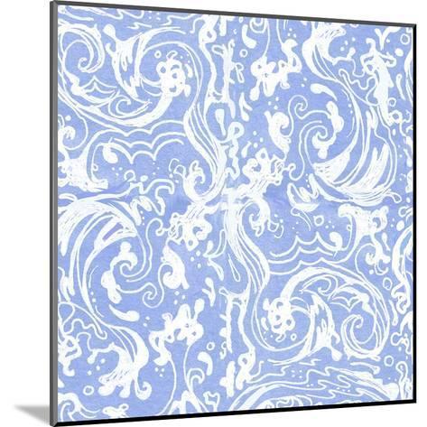 Blueandwhite Waves-Cara Kozik-Mounted Art Print