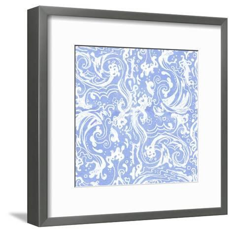 Blueandwhite Waves-Cara Kozik-Framed Art Print