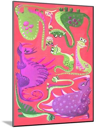Dinogouache-Cara Kozik-Mounted Art Print