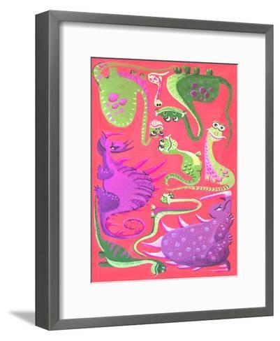 Dinogouache-Cara Kozik-Framed Art Print