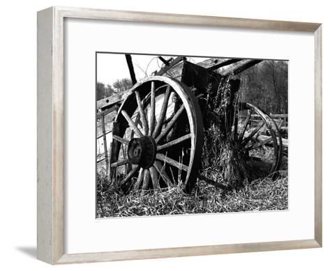 Wooden Wagon-Mark Polege-Framed Art Print