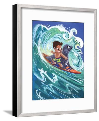 Leowen Surfs-Cara Kozik-Framed Art Print