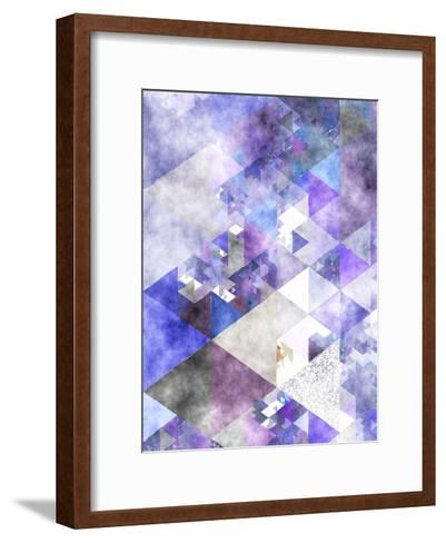 Triangles Abstract Pattern 17-Grab My Art-Framed Art Print