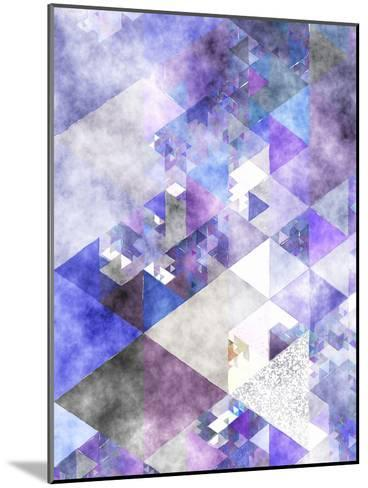Triangles Abstract Pattern 17-Grab My Art-Mounted Art Print