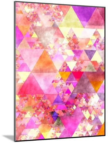 Triangles Abstract Pattern 18-Grab My Art-Mounted Art Print