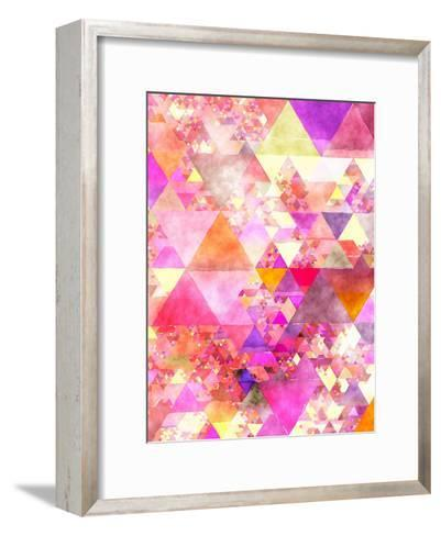 Triangles Abstract Pattern 18-Grab My Art-Framed Art Print