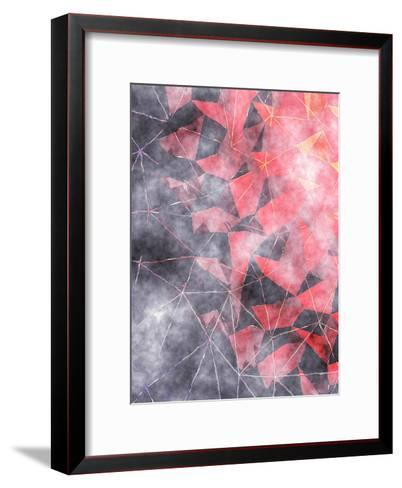 Triangles Abstract Pattern 7-Grab My Art-Framed Art Print