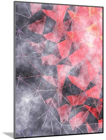 Triangles Abstract Pattern 7-Grab My Art-Mounted Art Print