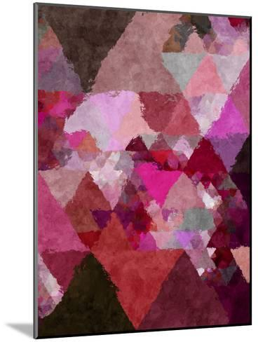 Triangles Abstract Pattern 19-Grab My Art-Mounted Art Print