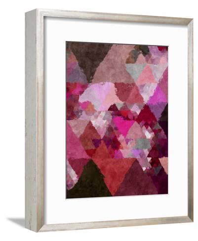 Triangles Abstract Pattern 19-Grab My Art-Framed Art Print
