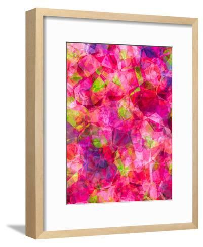 Triangles Abstract Pattern 22-Grab My Art-Framed Art Print