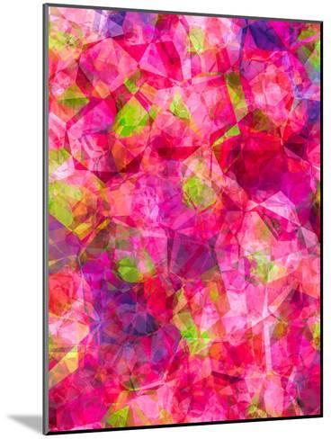 Triangles Abstract Pattern 22-Grab My Art-Mounted Art Print