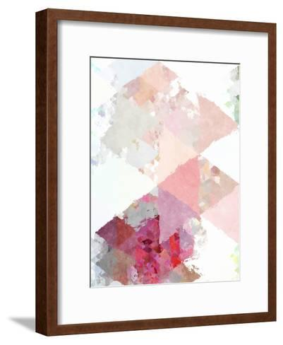 Triangles Abstract Pattern 11-Grab My Art-Framed Art Print