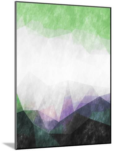 Triangles Abstract Pattern-Grab My Art-Mounted Art Print
