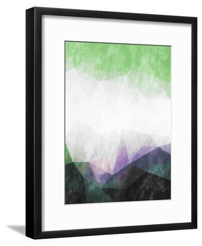 Triangles Abstract Pattern-Grab My Art-Framed Art Print