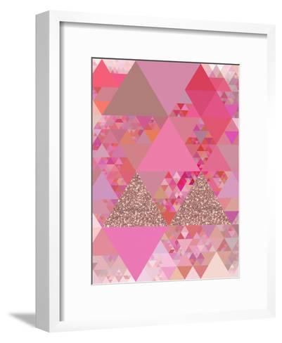 Triangles Abstract Pattern 13-Grab My Art-Framed Art Print