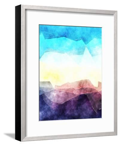 Triangles Abstract Pattern 3-Grab My Art-Framed Art Print