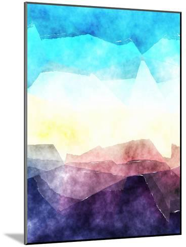 Triangles Abstract Pattern 3-Grab My Art-Mounted Art Print