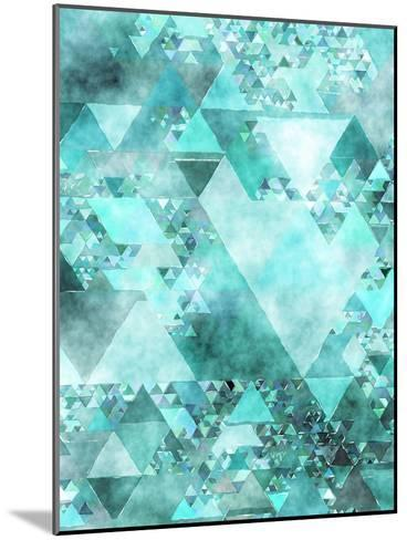 Triangles Abstract Pattern 15-Grab My Art-Mounted Art Print