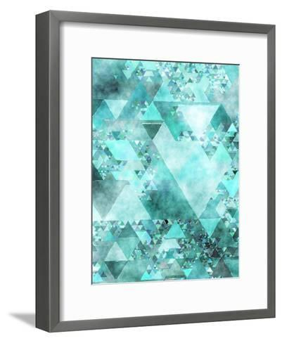 Triangles Abstract Pattern 15-Grab My Art-Framed Art Print