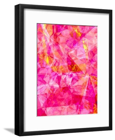 Triangles Abstract Pattern 27-Grab My Art-Framed Art Print