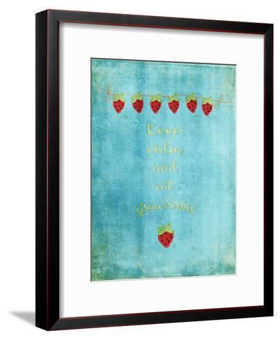 Keep Calm & Eat Strawberries-Grab My Art-Framed Art Print