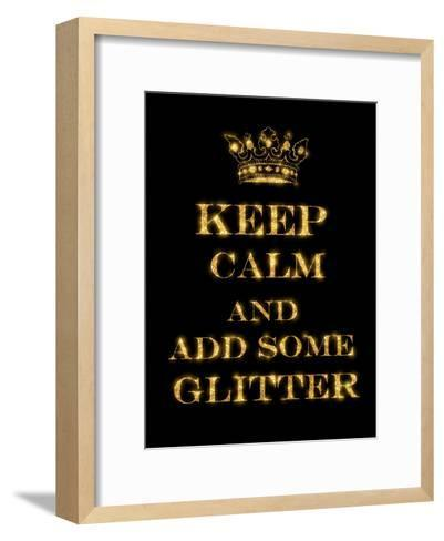 Keep Calm Quote-Grab My Art-Framed Art Print