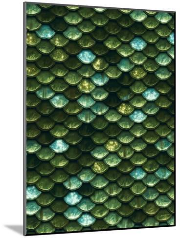 Green Aqua Glitter Mermaid Scales-Grab My Art-Mounted Art Print