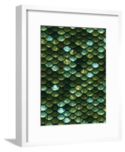 Green Aqua Glitter Mermaid Scales-Grab My Art-Framed Art Print