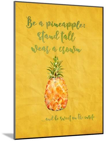Pineapple Fruit Summer-Grab My Art-Mounted Art Print