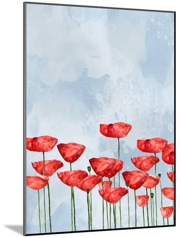 Poppies In Watercolor-Grab My Art-Mounted Art Print