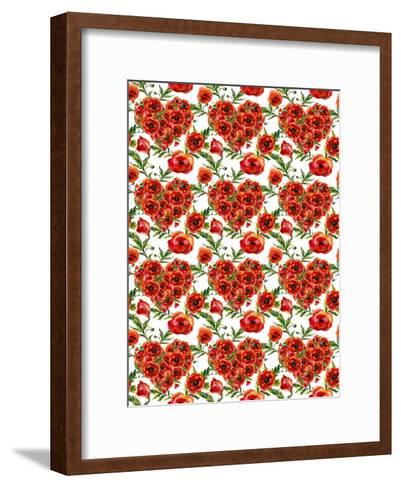 Poppies Poppy Pattern Illustration 4-Grab My Art-Framed Art Print