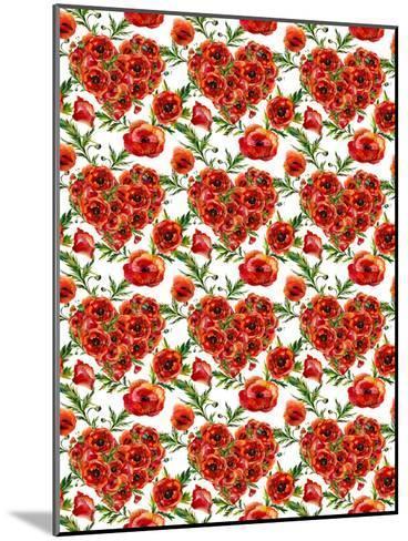 Poppies Poppy Pattern Illustration 4-Grab My Art-Mounted Art Print