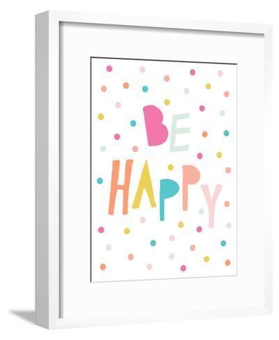 Behappy 2-Nanamia Design-Framed Art Print