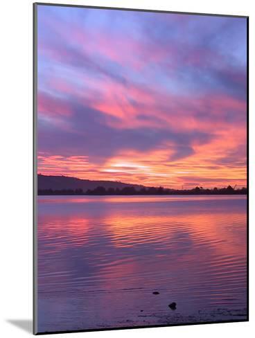Sundown Lake Mountains-Grab My Art-Mounted Art Print