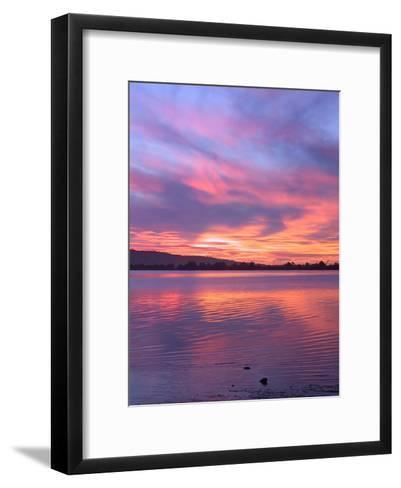 Sundown Lake Mountains-Grab My Art-Framed Art Print
