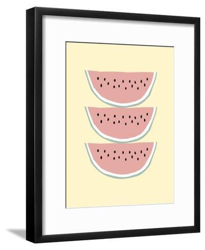 Melonyellow-Nanamia Design-Framed Art Print
