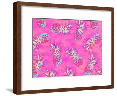 Pineapple Pink Pattern-Grab My Art-Framed Art Print