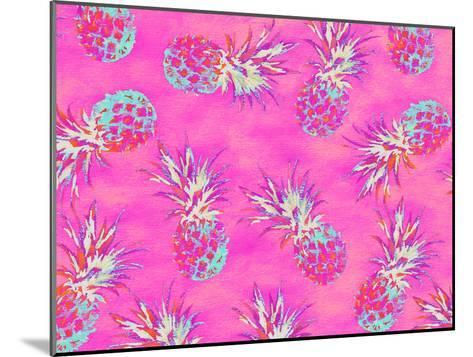Pineapple Pink Pattern-Grab My Art-Mounted Art Print