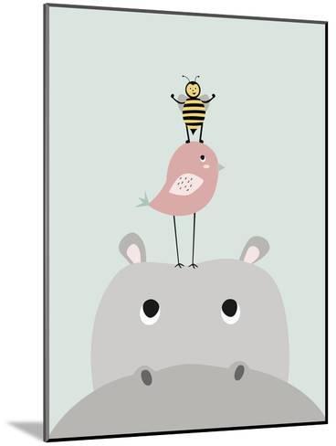 Hippo-Nanamia Design-Mounted Art Print