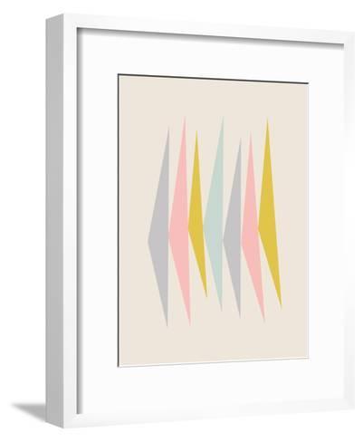 Pasteltriangle-Nanamia Design-Framed Art Print