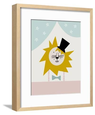 Lion-Nanamia Design-Framed Art Print