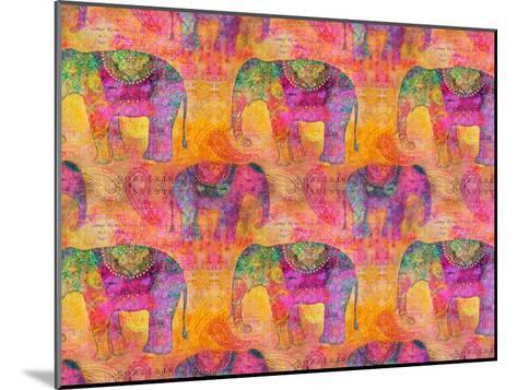 Elephants-Lebens Art-Mounted Art Print