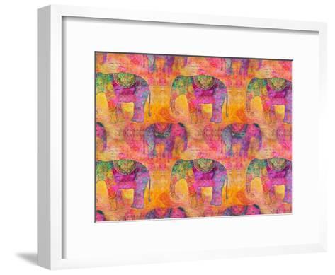 Elephants-Lebens Art-Framed Art Print