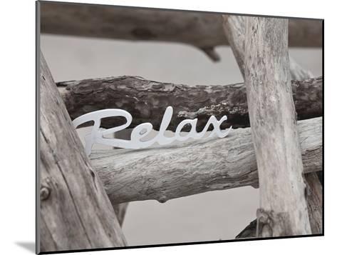 Relax At The Beach-Lebens Art-Mounted Art Print