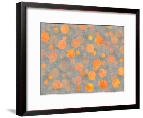 Orange Dot Pattern-Lebens Art-Framed Art Print
