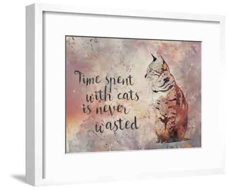 Cat 2-Lebens Art-Framed Art Print