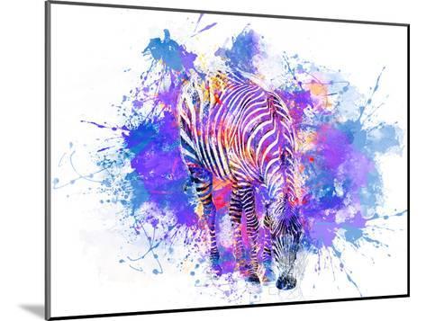 Crazy Zebra-Lebens Art-Mounted Art Print