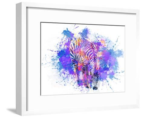 Crazy Zebra-Lebens Art-Framed Art Print